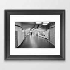 Dans le métro parisien Framed Art Print