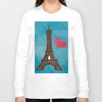 eiffel Long Sleeve T-shirts featuring Eiffel by Daniela Marti