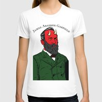 garfield T-shirts featuring James Abaddon Garfield by @DrunkSatanRobot
