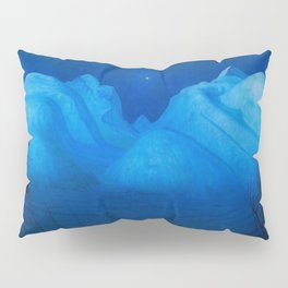 North Star Rising - Winter Night in the Alpine Mountains by Harald Sohlberg Pillow Sham