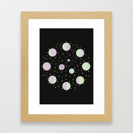 And You? - Moon Phases Illustration Framed Art Print
