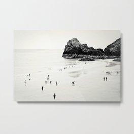 Cornwall beach life Metal Print