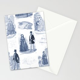 Biedermeier Blue Romance Stationery Cards