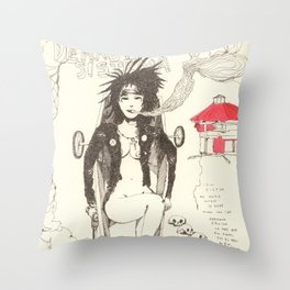 Soul sister in a coffin Throw Pillow