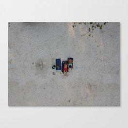 Aerial Beach Towels Canvas Print
