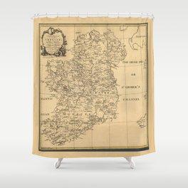 Map of Ireland (1795) Shower Curtain