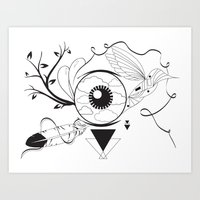 surrealism Art Prints featuring Surrealism by Karen Trujillo