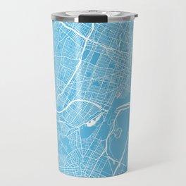 Newark map blue Travel Mug
