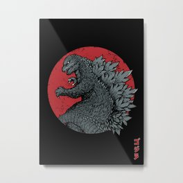Gojira Kaiju Alpha Metal Print