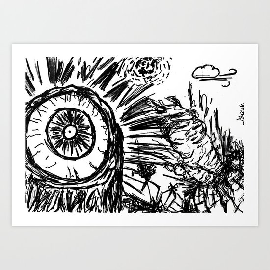 B-Movie part 2 Art Print