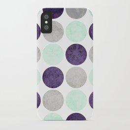 Circles (Mint, Purple, Gray) iPhone Case