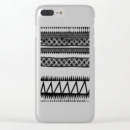 MALOU ZEBRA Clear iPhone Case