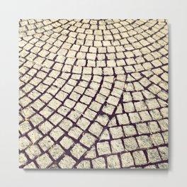 cobblestone pathway Metal Print
