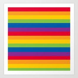 Stripes Pride Art Print