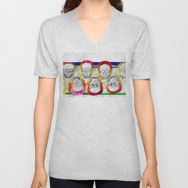Color Skulls Unisex V-Neck