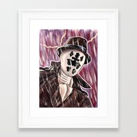 rorschach Framed Art Prints featuring Rorschach by MSG Imaging