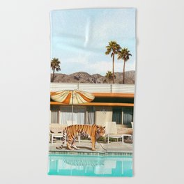 Pool Party Tiger Beach Towel