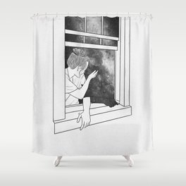 The window of memories. Shower Curtain