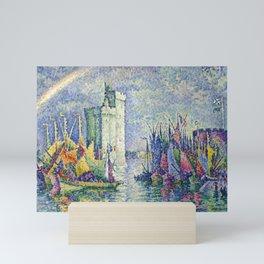 "Paul Signac  ""Arc-en-ciel, La Rochelle, le Port"" Mini Art Print"