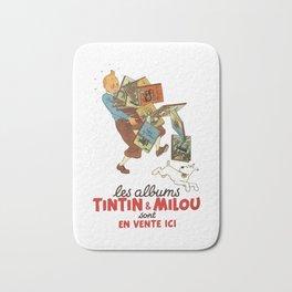Les Albums Tintin and Milou Sont en Vente Icı Bath Mat