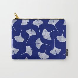Ginkgo Biloba   Blue Background Carry-All Pouch