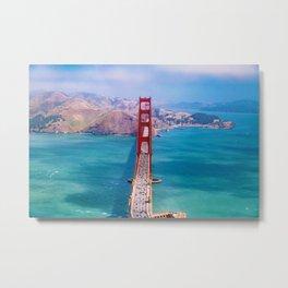 Perfect San Francisco Bridge (Color) Metal Print