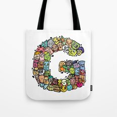 Alphabet G. Series of alphabet that suit your personality. Tote Bag