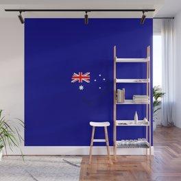 Minimal Australian Flag Wall Mural