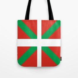 Flag of Euskal Herria-Basque,Pays basque,Vasconia,pais vasco,Bayonne,Dax,Navarre,Bilbao,Pelote,spain Tote Bag