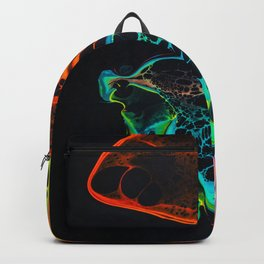Psychedelic Ink Marbling Bright Colours Abstract Pattern Art Backpack