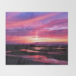 Red Haven Throw Blanket