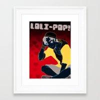 eugenia loli Framed Art Prints featuring Loli-Pop 1 by Reggie Bear