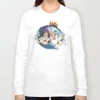 aladdin Long Sleeve T-shirts featuring Aladdin & Jasmine by FarbCafé