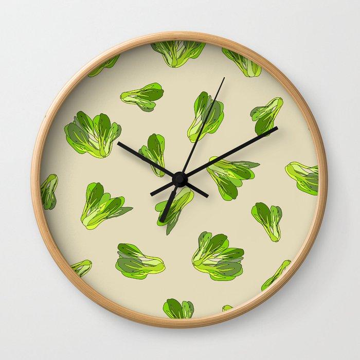 Lettuce Bok Choy Vegetable Wall Clock