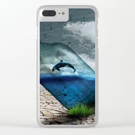 Climate ange in a Bottle Clear iPhone Case