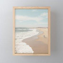 California Beach Framed Mini Art Print
