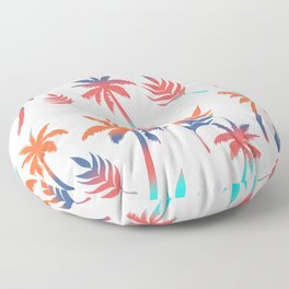 Palm Tree Summer Vibes and Leaf Print Floor Pillow