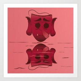 Sad Tengu Art Print