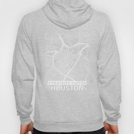 Straight Outta Downtown Houston Texas City Map Tee Hoody