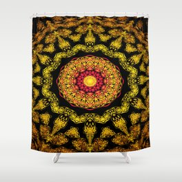 3D Persian Rug Shower Curtain