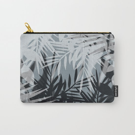 Gray Leaves pattern . Carry-All Pouch