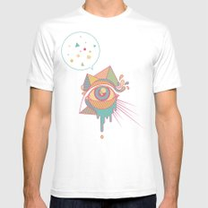 EYE SPEAK MEDIUM Mens Fitted Tee White