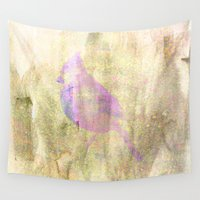 lonely Wall Tapestries featuring Lonely  Bird by Vitta