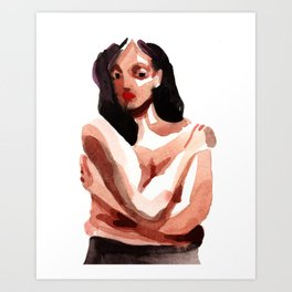Self Hug Art Print