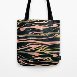 Classy abstract marbleized paint image Tote Bag