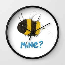 Bee Mine Wall Clock