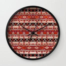 vintage Oriental Moroccan Rug Design D3 Wall Clock