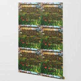 Flower Garden of Platinum Intention Poetry Art Wallpaper