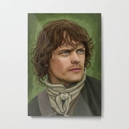 """Jamie Fraser from Outlander"" by Bex Morley Metal Print"
