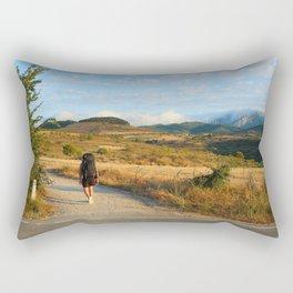 Road to Santiago Rectangular Pillow